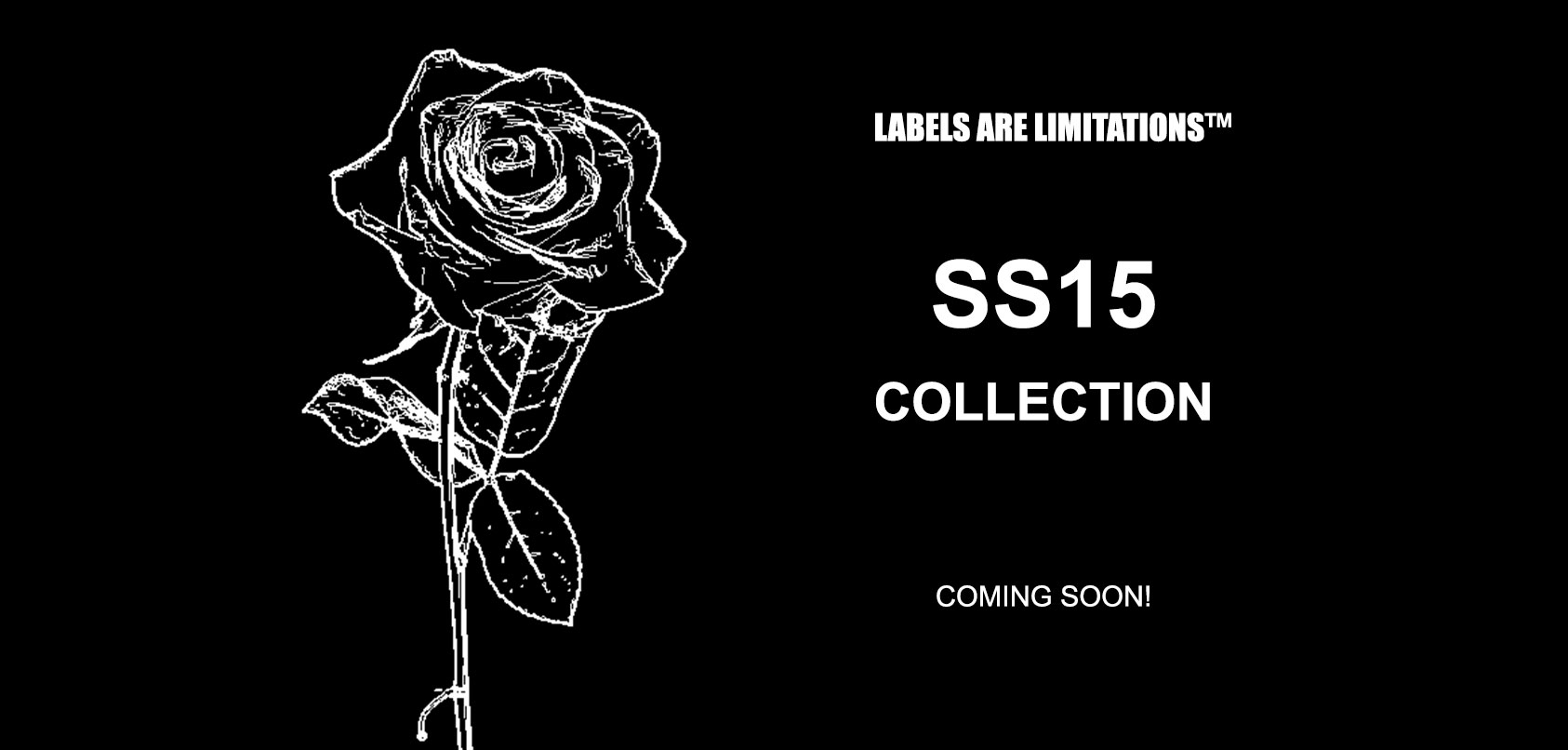 Preview banner (as seen on homepage) of our SS15 collection, coming soon.