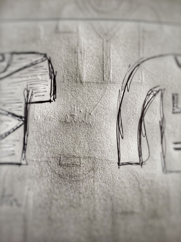 A snippet of a potential AW15 design sketch - we will keep you guessing...