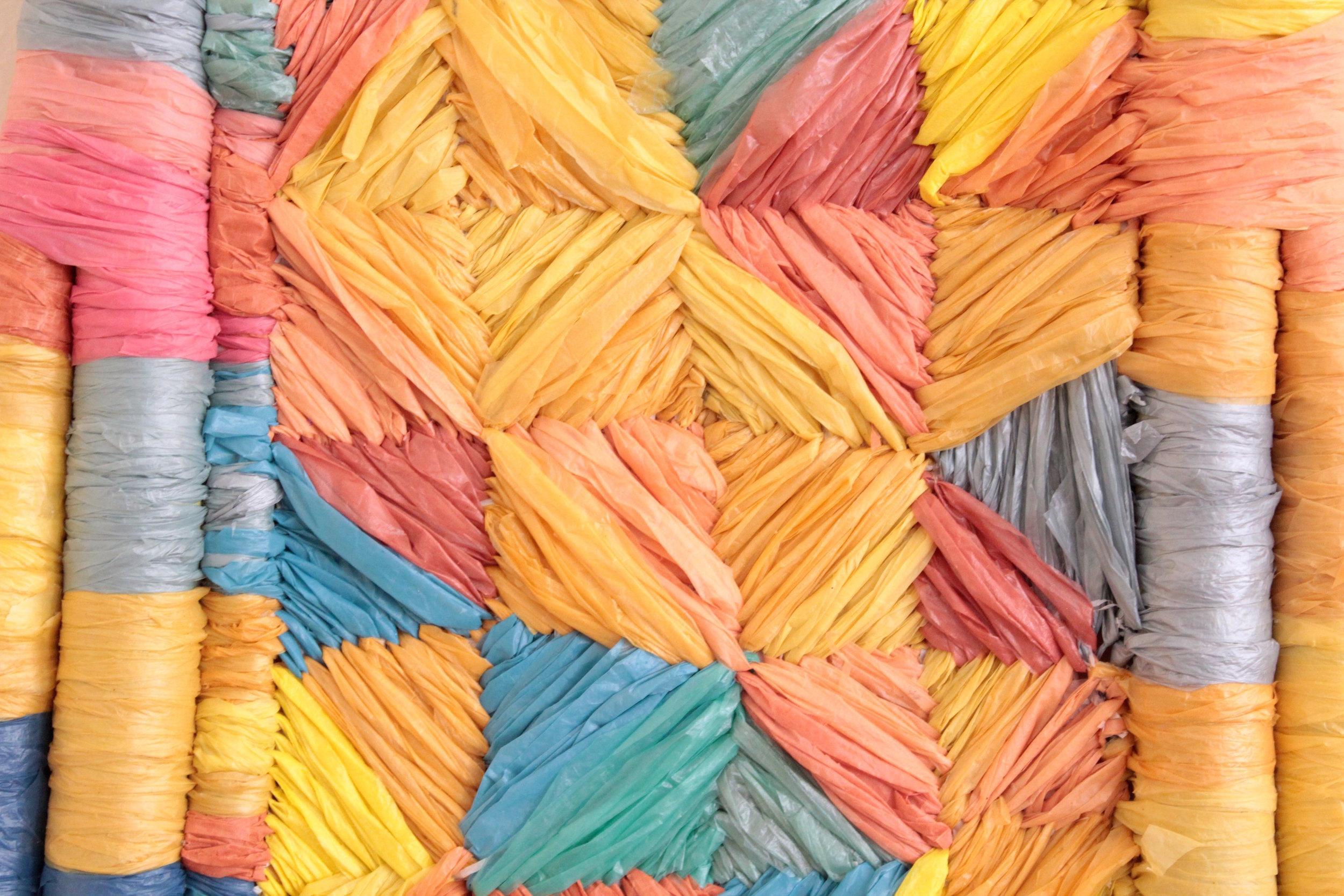 Untitled (Plastic Phulkari)