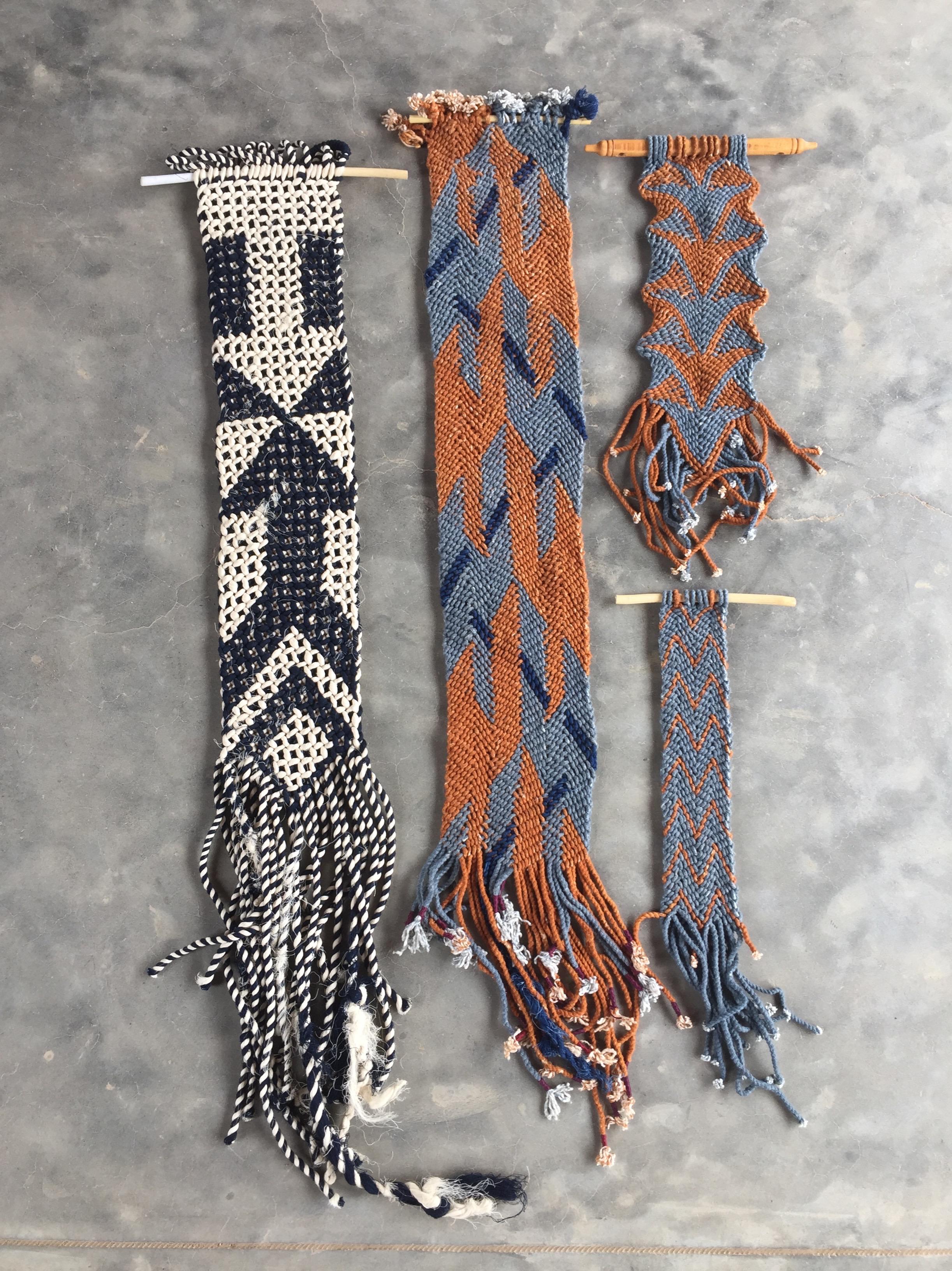 Untitled (Ply-split camel belt samples)