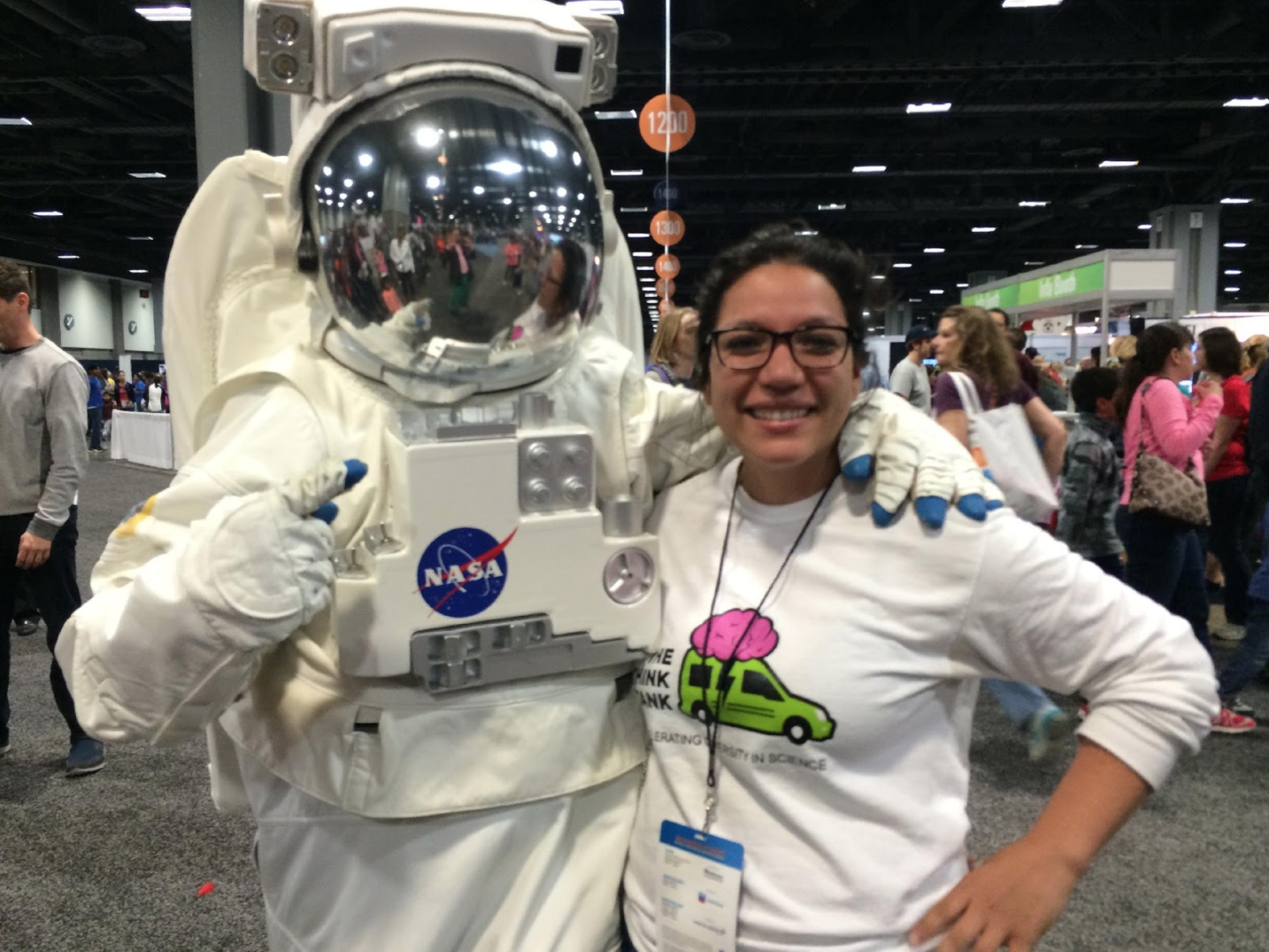Our team joined about 3,000 presenters from all over the US. NASA sent this guy.
