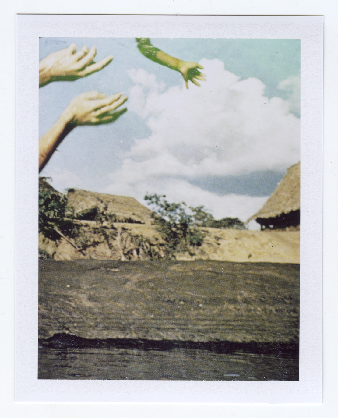 dreams of flight (being caught or crashing)  Polaroid of found National Geographic, 2015   Statement + Info