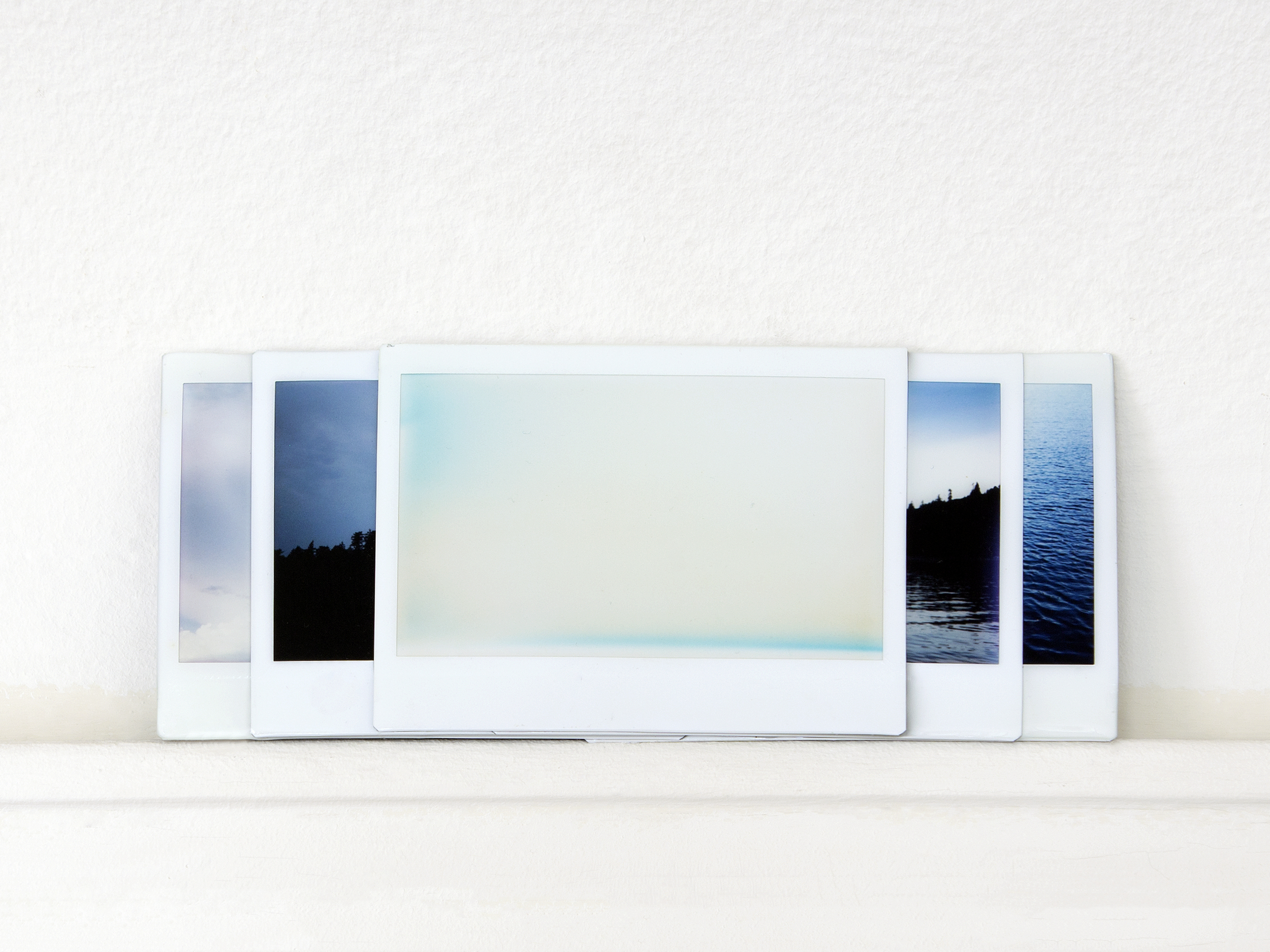 what it feels like to see  Fuji Instax photographs (5), resin, 2015   Statement + Info