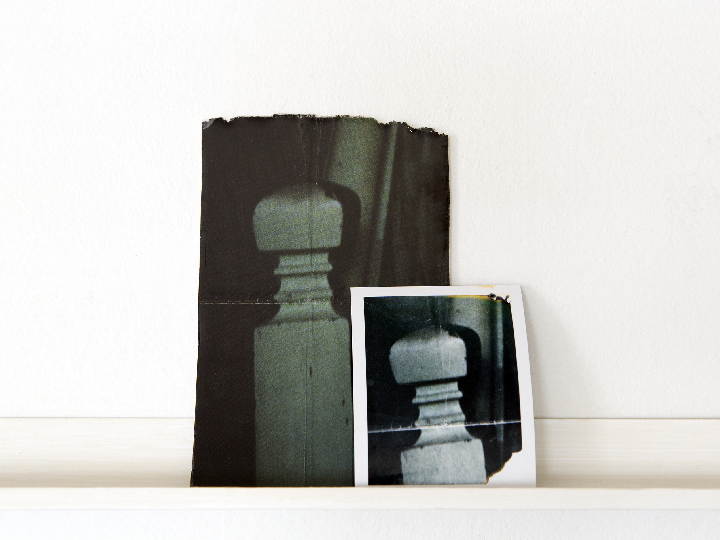 what has been / it feels like we never change  resin, found photograph, Polaroid of found photograph, 2015   Statement + Info