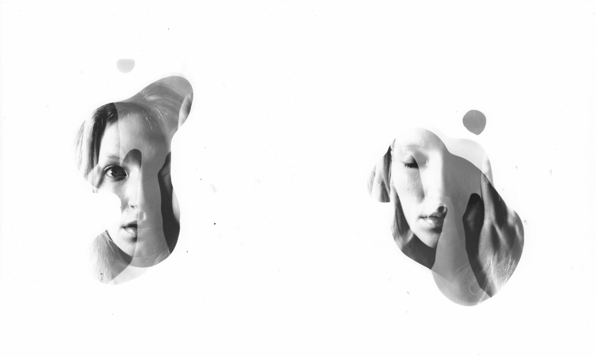 Pieces / Distraction , Diane Bolme, silver gelatin print diptych, 2013