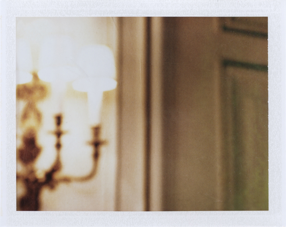 The light in the hallway  Instant film photograph, 2013   Info + Statement