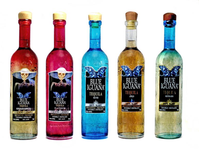 Blue Iguana Tequila Blanco, Repsado and Añejo. Special Edition Catrina Blanco and Reposado.