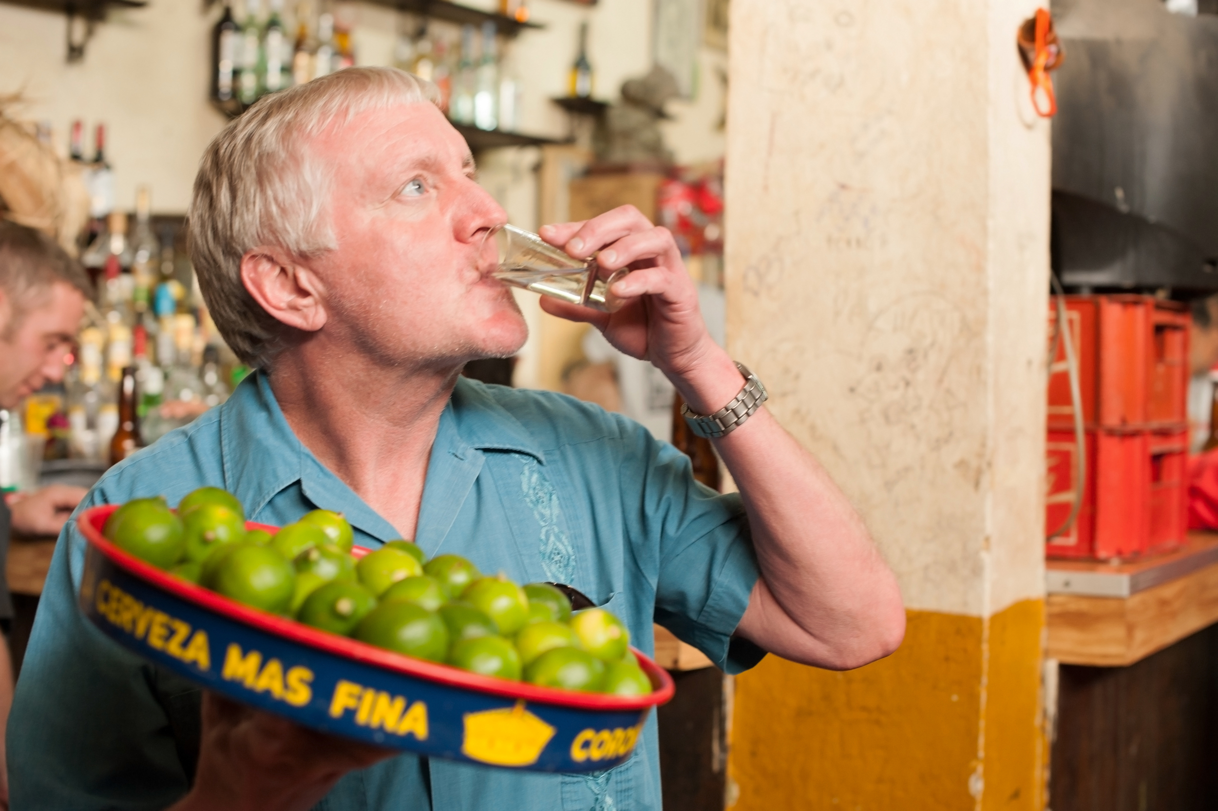 Disclaimer: This is not Walter! It's another tequila lover, Kevin Holloran, hanging out in La Cucaracha taking cheap tequila shots.