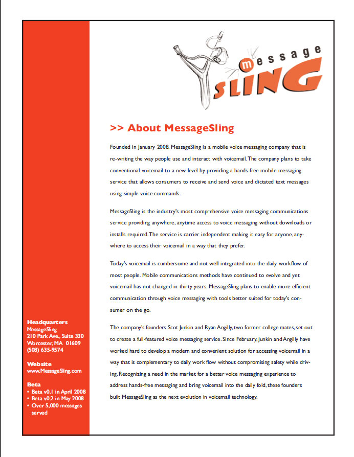 MessageSling company and service descriptions