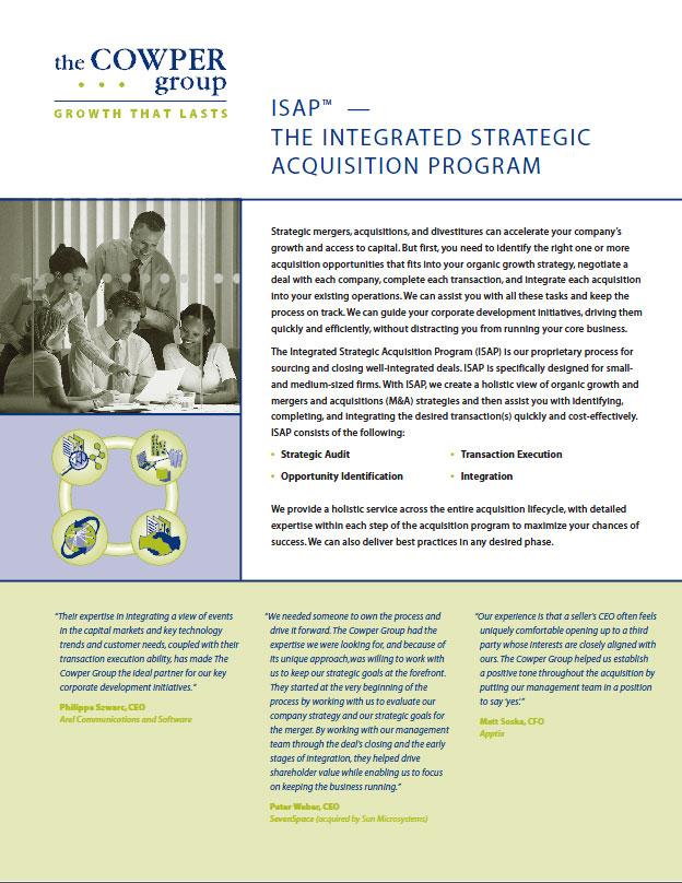 Cowper Group Integrated Strategic Acquisition Program