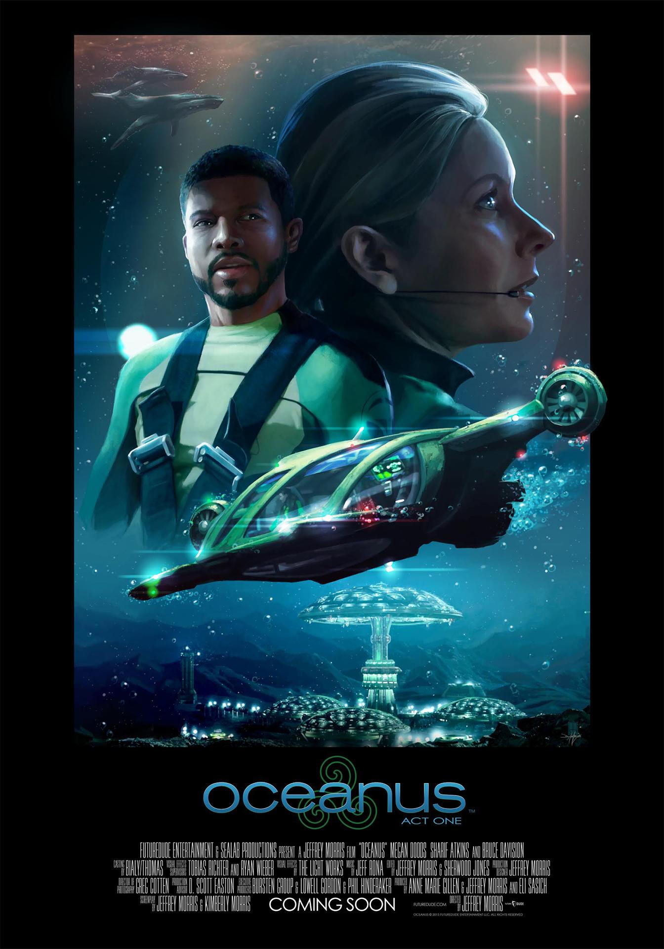 Movie poster for FutureDude Entertainment's upcoming film,  Oceanus: The Motion Picture