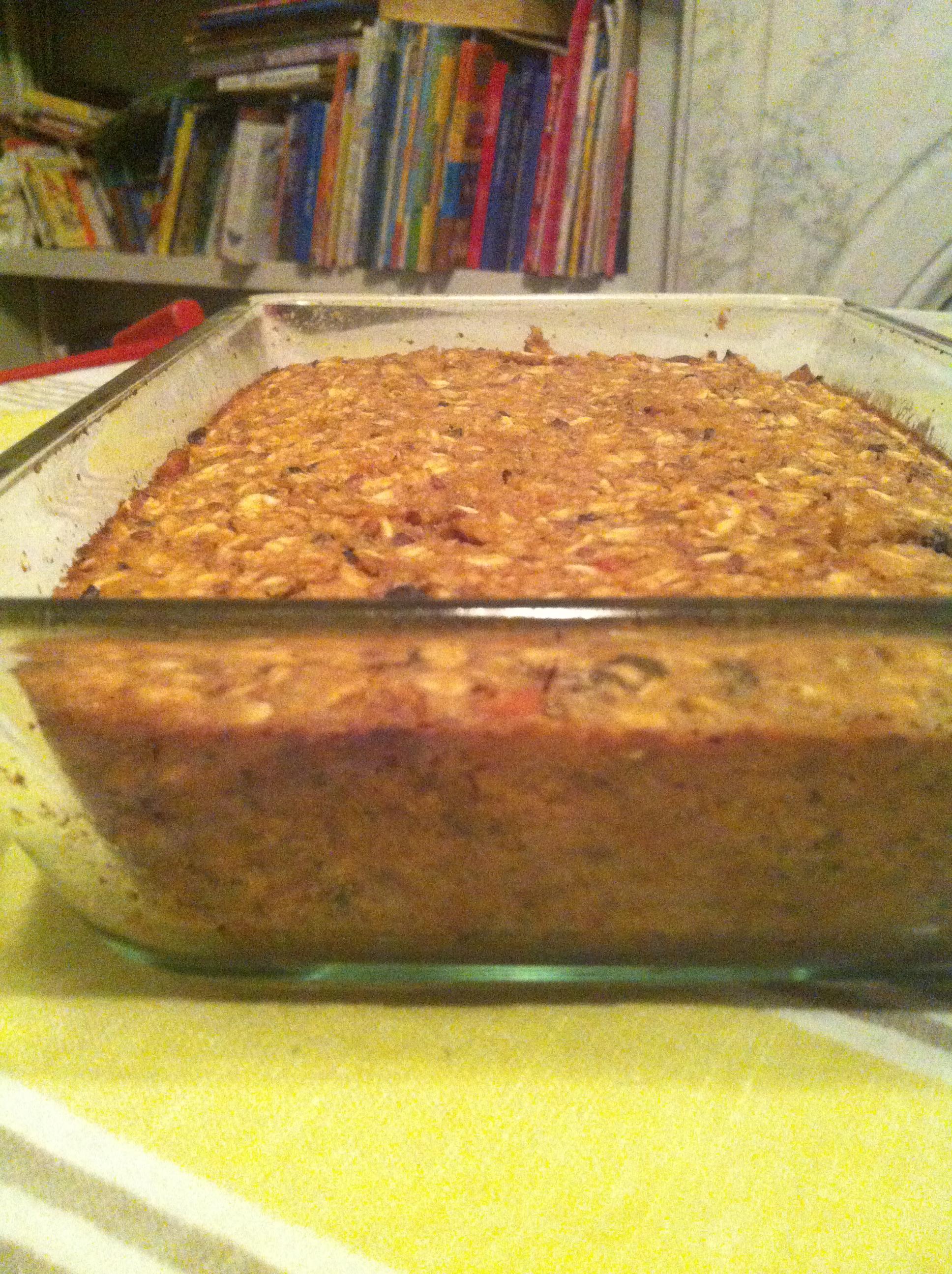 Baked oatmeal bars.