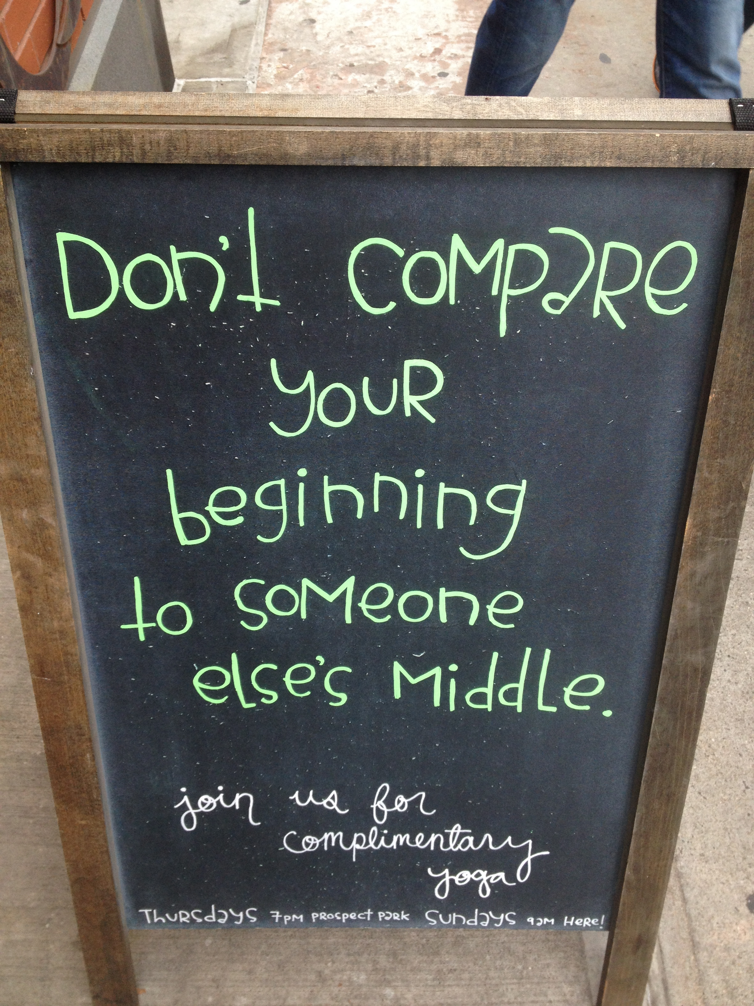 Loved this! It was set up outside of the Lululemon store nearby where I live.