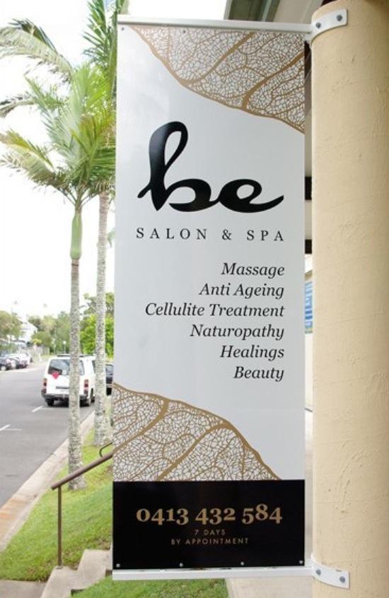 Be Salon Spa Pole Sign Design
