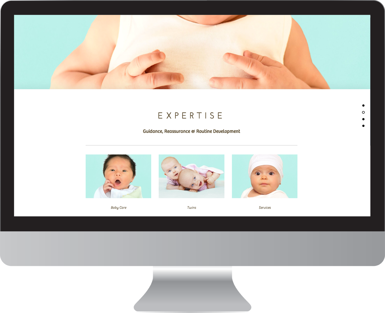 Baby Care Parallax Web Design