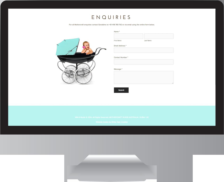Baby website design Byron Bay