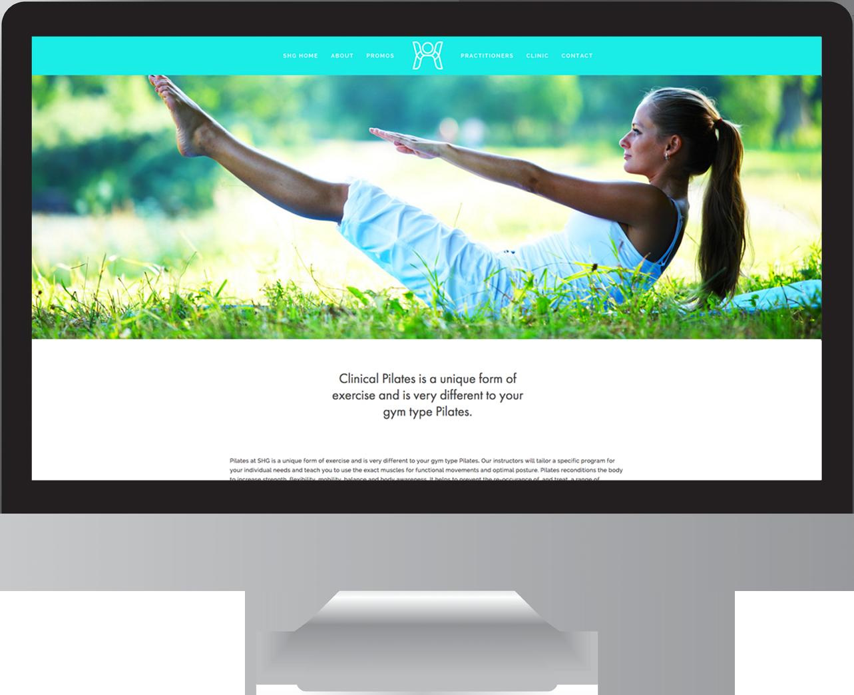 Seaview Health Group Pilates Website Design