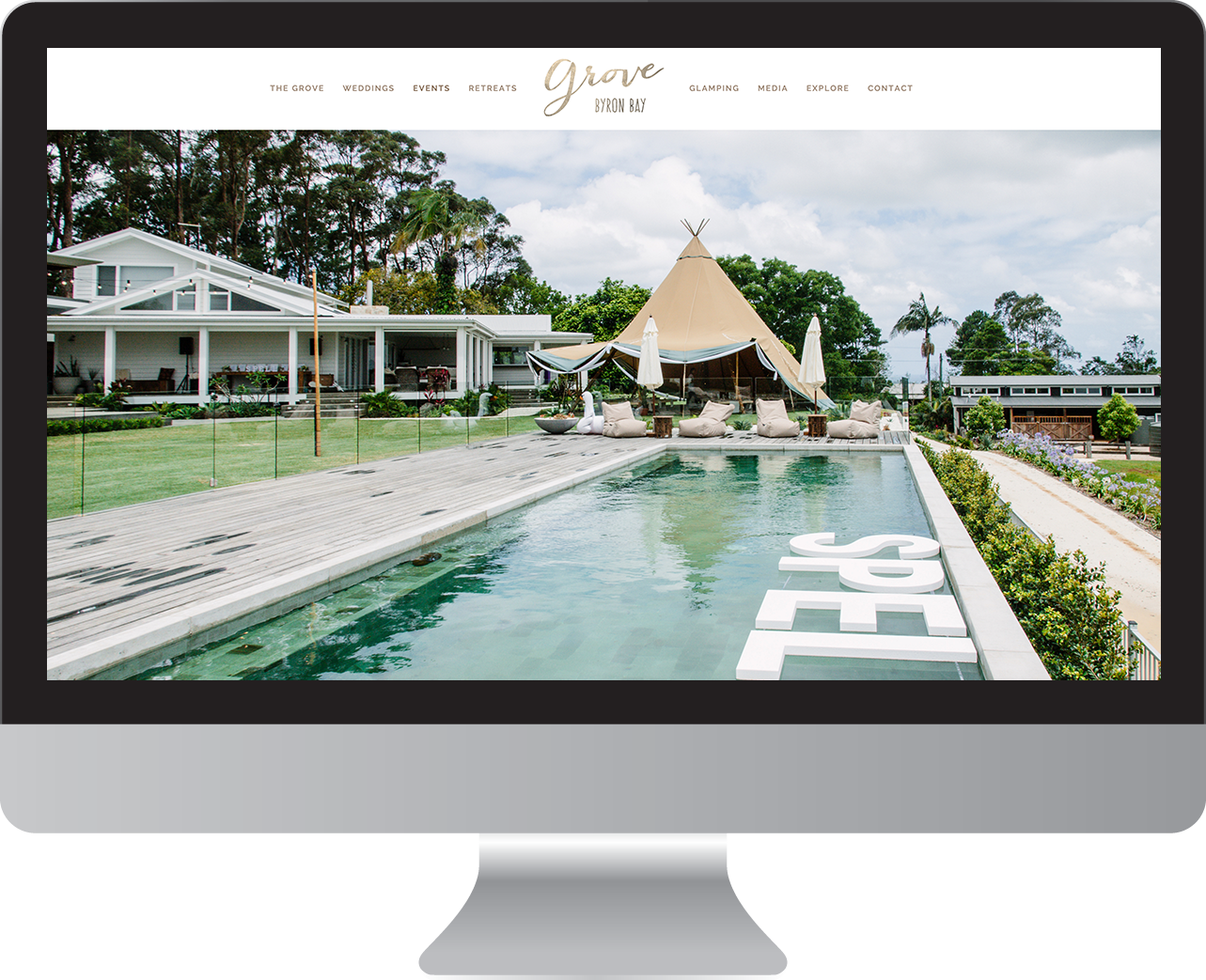 The Grove Byron Bay website design and branding