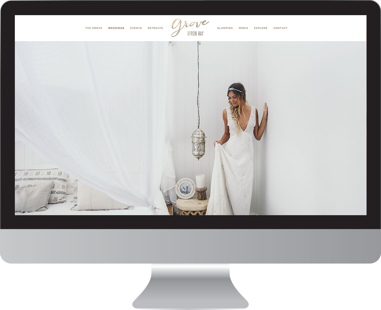 The Grove Byron Bay website design