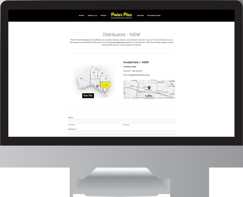 Polar Plus Refrigerated Bodies Website Design