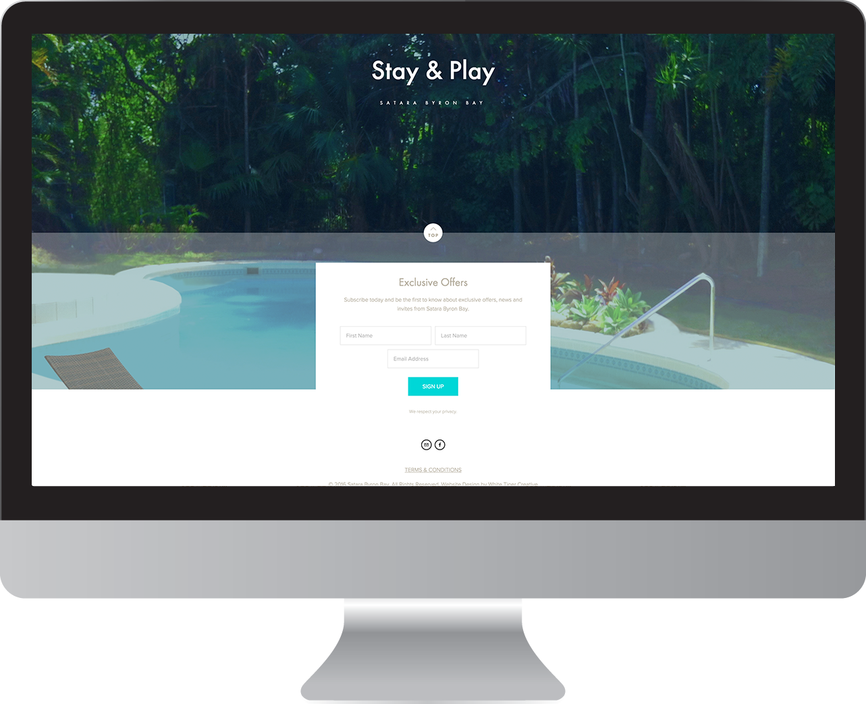 Satara Byron Bay website design