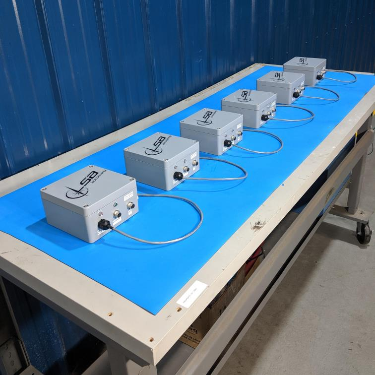 Six RANGER systems ready for delivery after integration and test at LSA Autonomy's Westminster, Maryland facility.