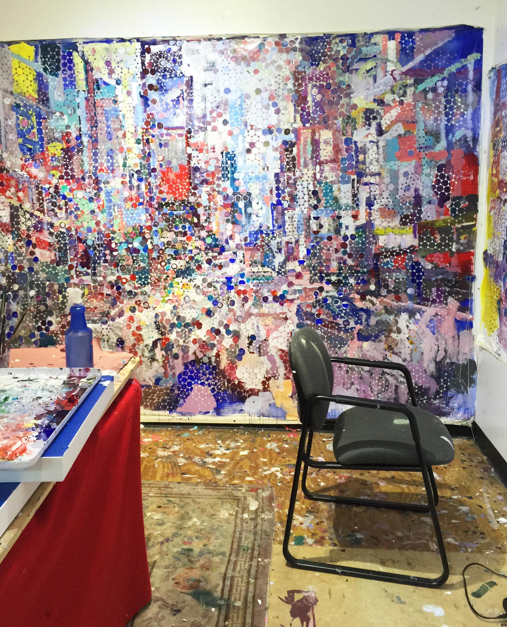 The artist's studio in New Rochelle, NY