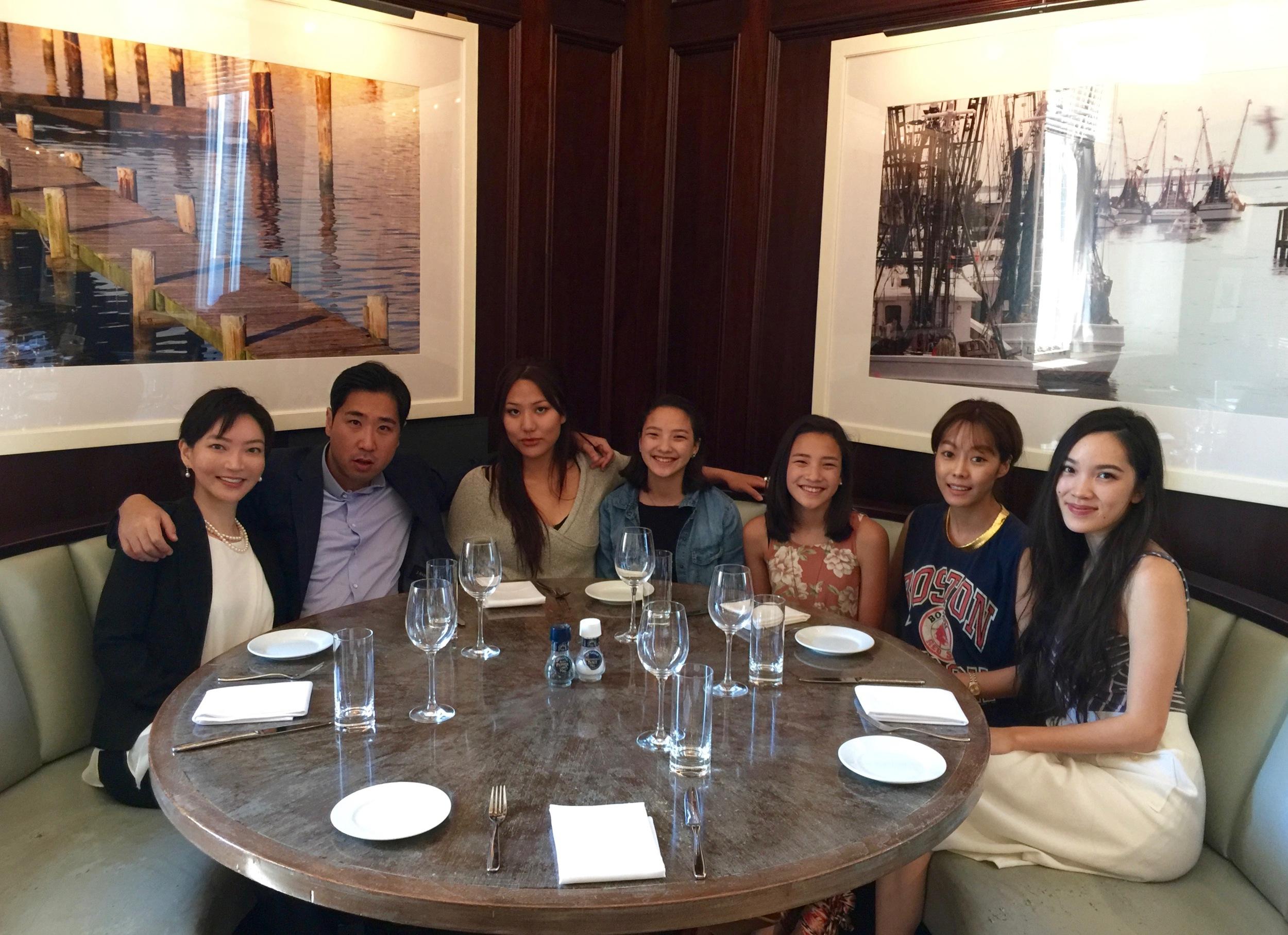 Dr. Chris Choi (left) with the cast Esteban Ahn, Rosalina Leigh, Nekhebet & Uatchet Juch, Sue Son, and Jessika Van