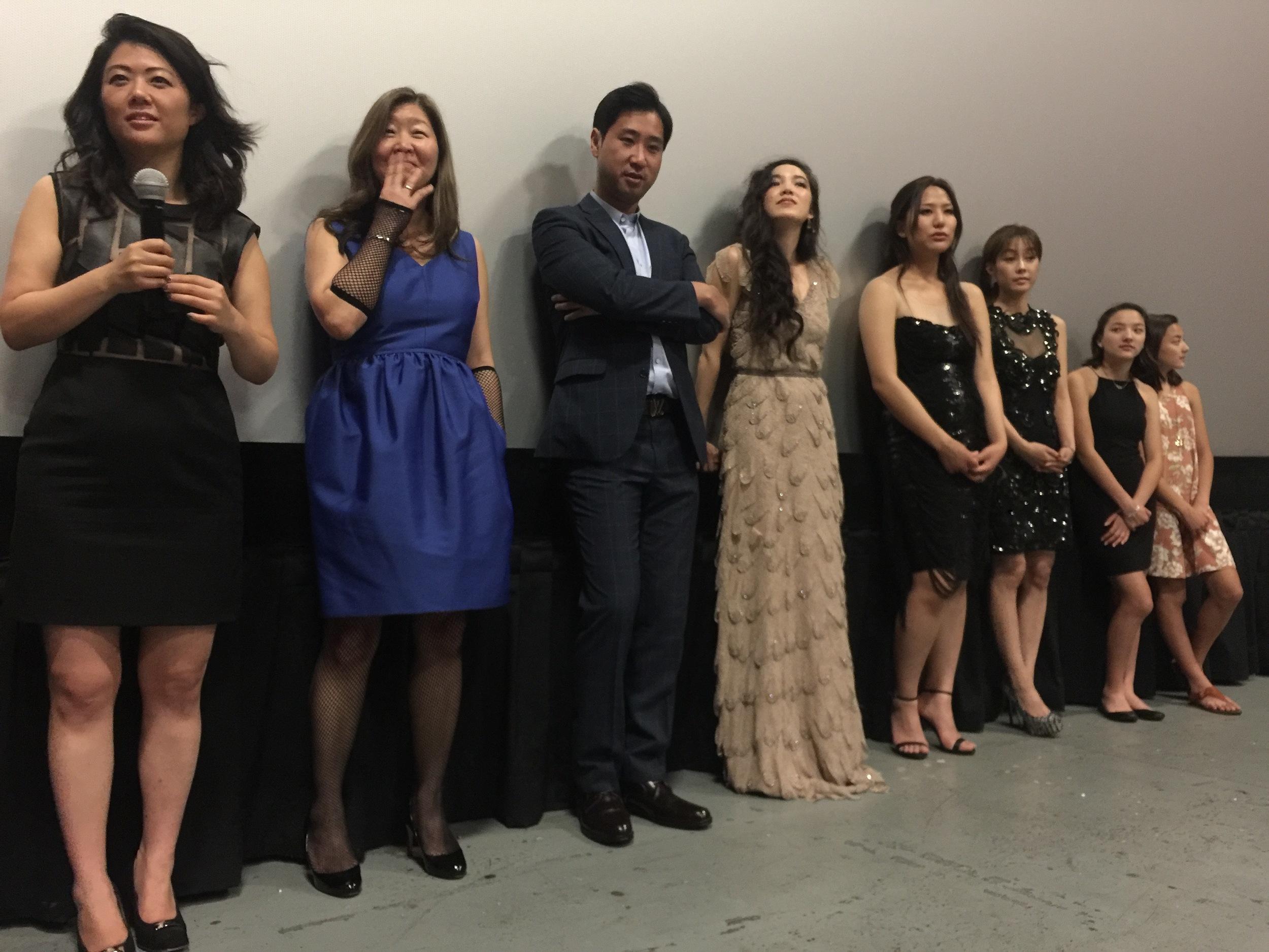 Q & A after the premier; Producer Andrea Chung, Executive producer Bj Noh, Cast Esteban Ahn, Jessika Van, Rosalina Leigh, Sue Son, Nekhebet & Uatchet Juch.