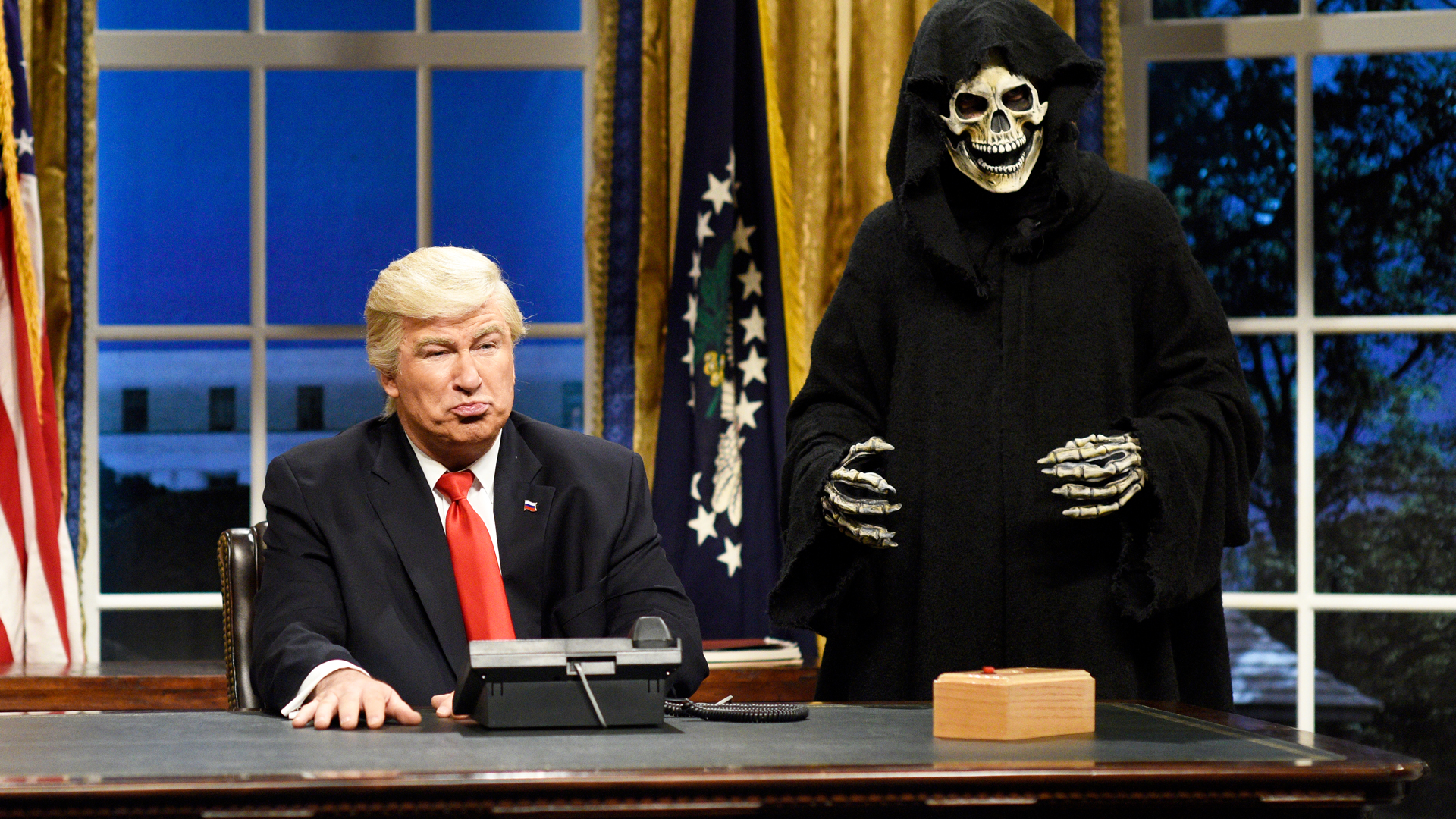 Alec Baldwin as President Trump on SNL. Source: NBC