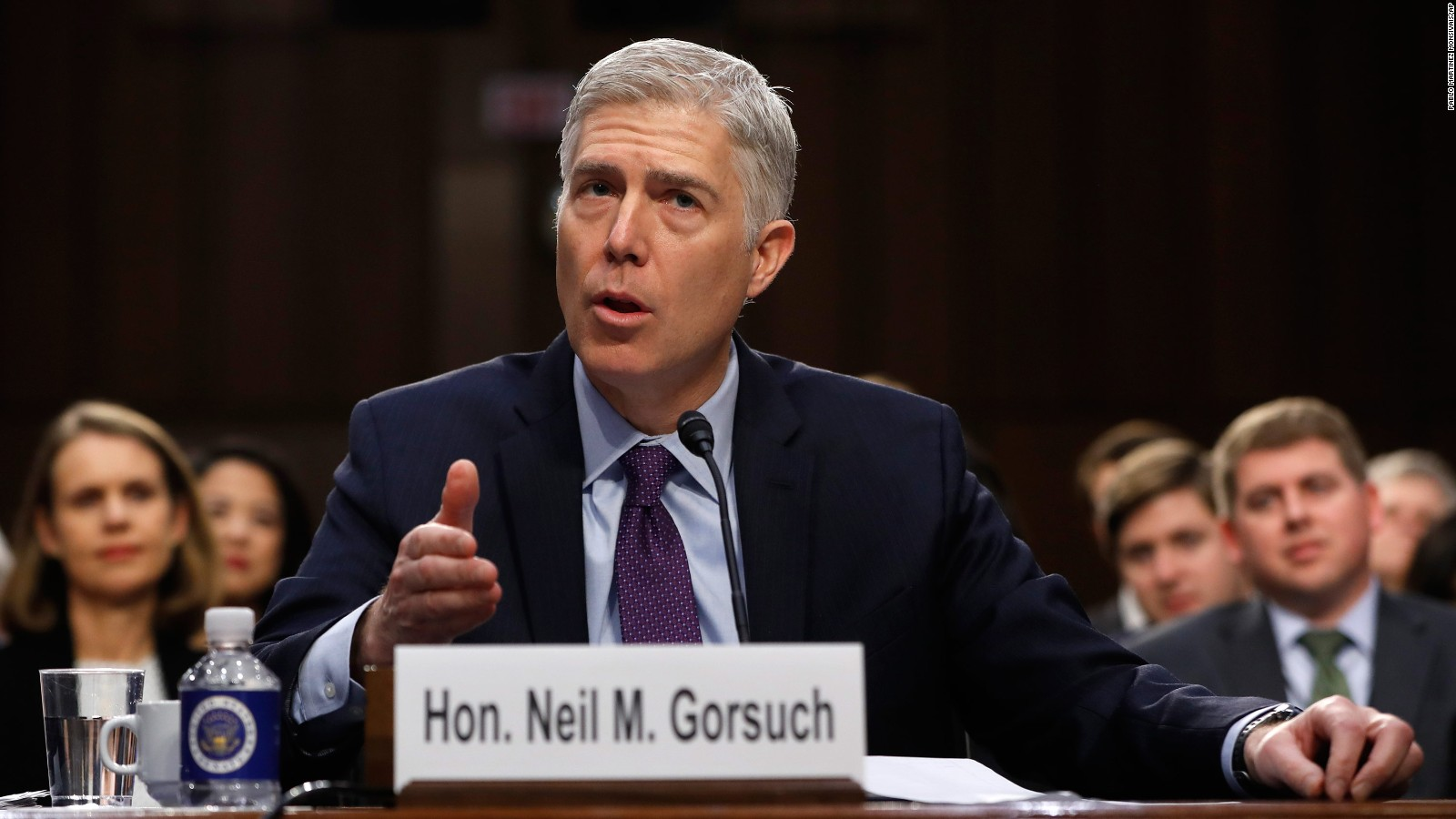 President Trump's Supreme Court nominee, Neil M. Gorsuch