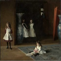 john singer sargent, oil on canvas, 'daughters of edward boit,' (1882)