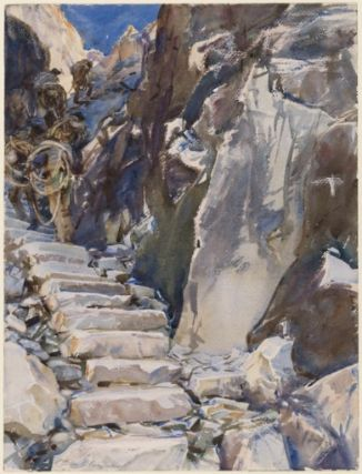 john singer sargent, watercolor on paper, 'carrara lizzatori,' (1911)