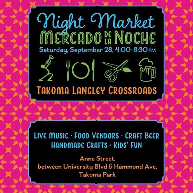 Two chances to see la Unica this weekend. The first show at 4pm at the Takoma-Langley NightMarket Saturday 9/28 . . . . . #takomalangleycrossroads