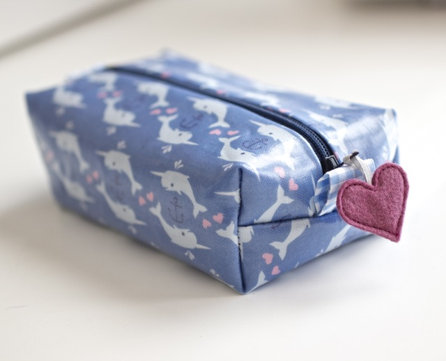 Laminated Narwhal Zipper Pouch