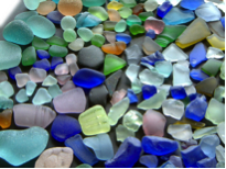 Tumbled ocean glass from my international travels.