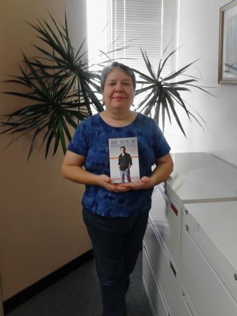 Danise Hegerty with Josephs book.jpeg