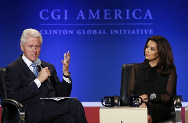 Eva Longoria at the Clinton Global Initiative June 2013. Makeup by Lauren Clark LC Faces