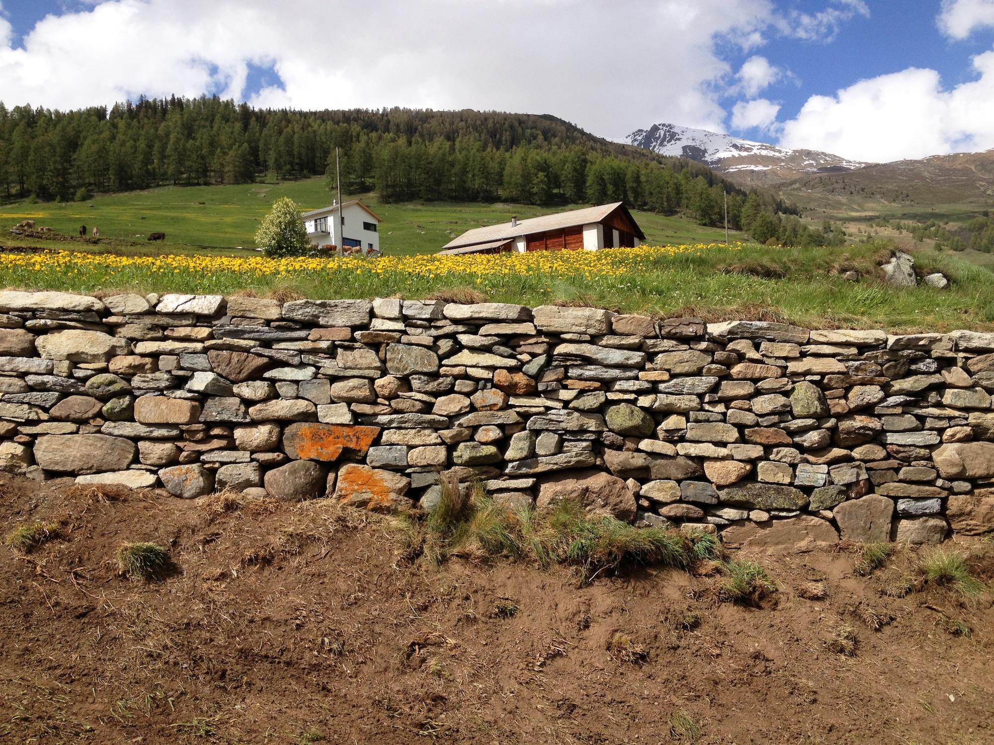 Sorgfältig gebaut, halten Trockenmauern während Jahrzehnten.