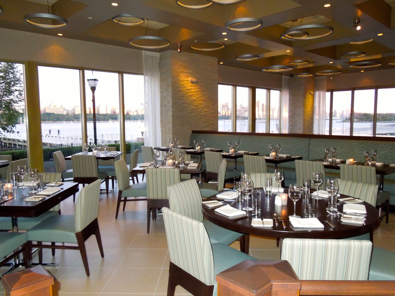 The dining room at HAVEN, Edgewater.