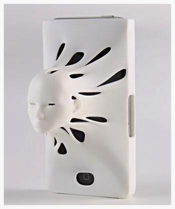 3D Design: Omniscient Siri by SaGa Design , @SagaDesign3D   http://www.shapeways.com/blog/archives/1236-announcing-contest-winners!-siri-comes-to-life-in-3d.html