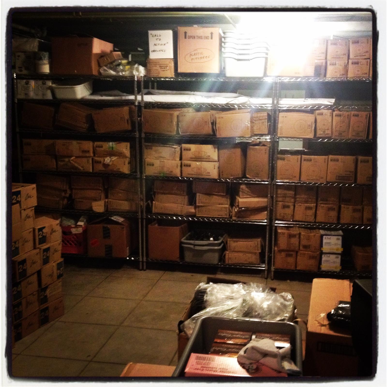 MFWF storage room