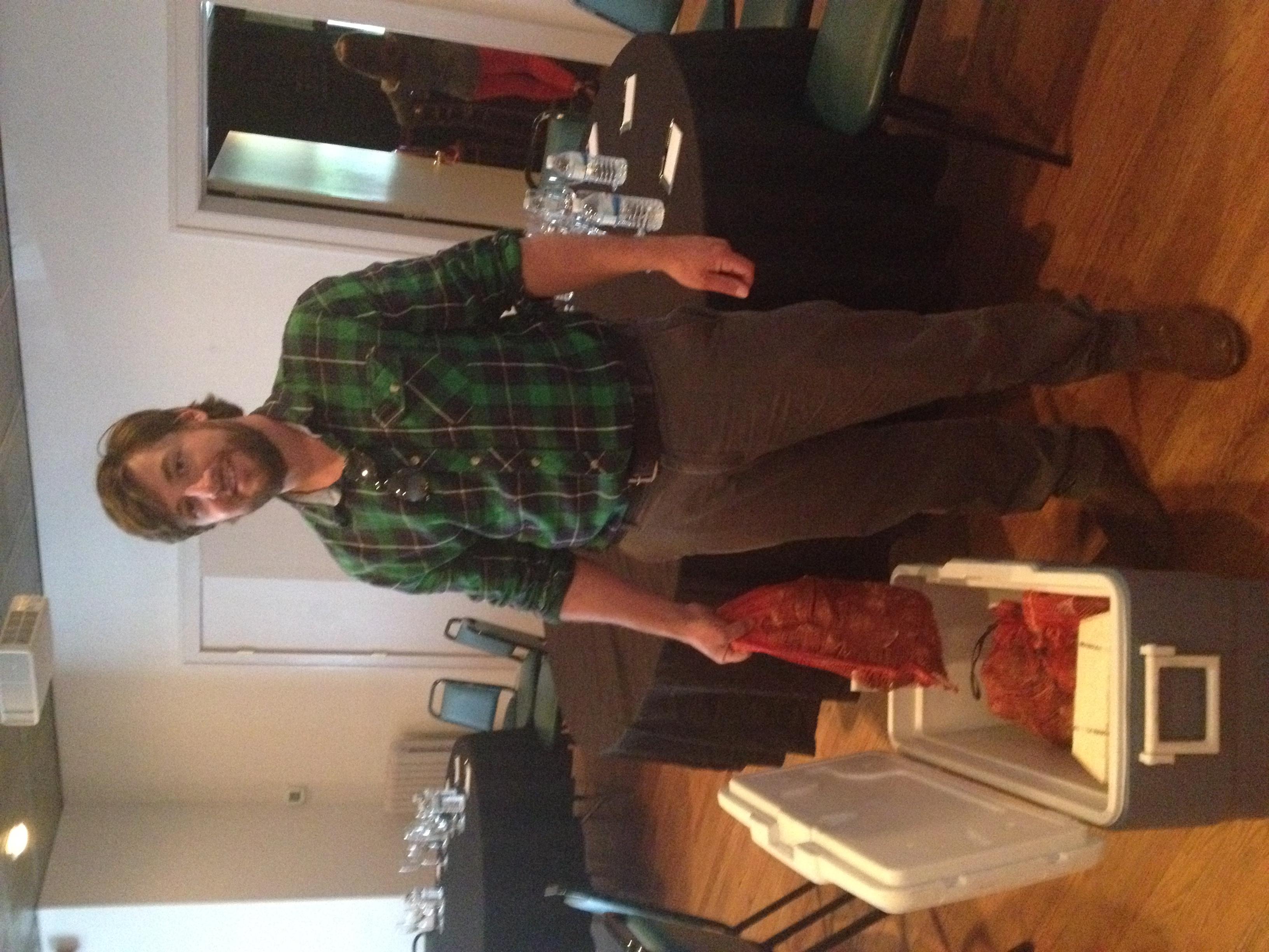 Matt Gregg of 40 North Oyster Farm