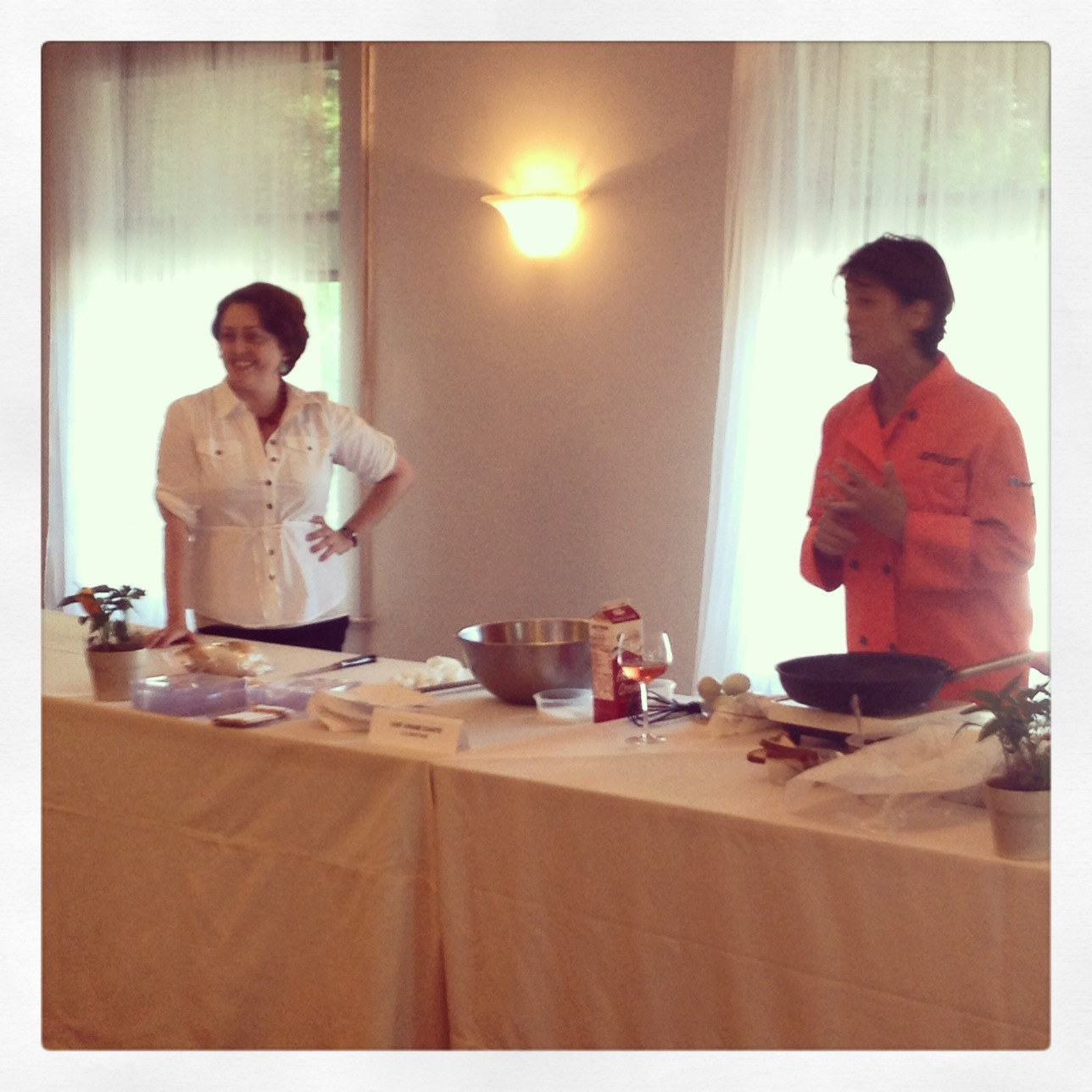Lily Hodge and Ariane Duarte at Foie Gras Seminar