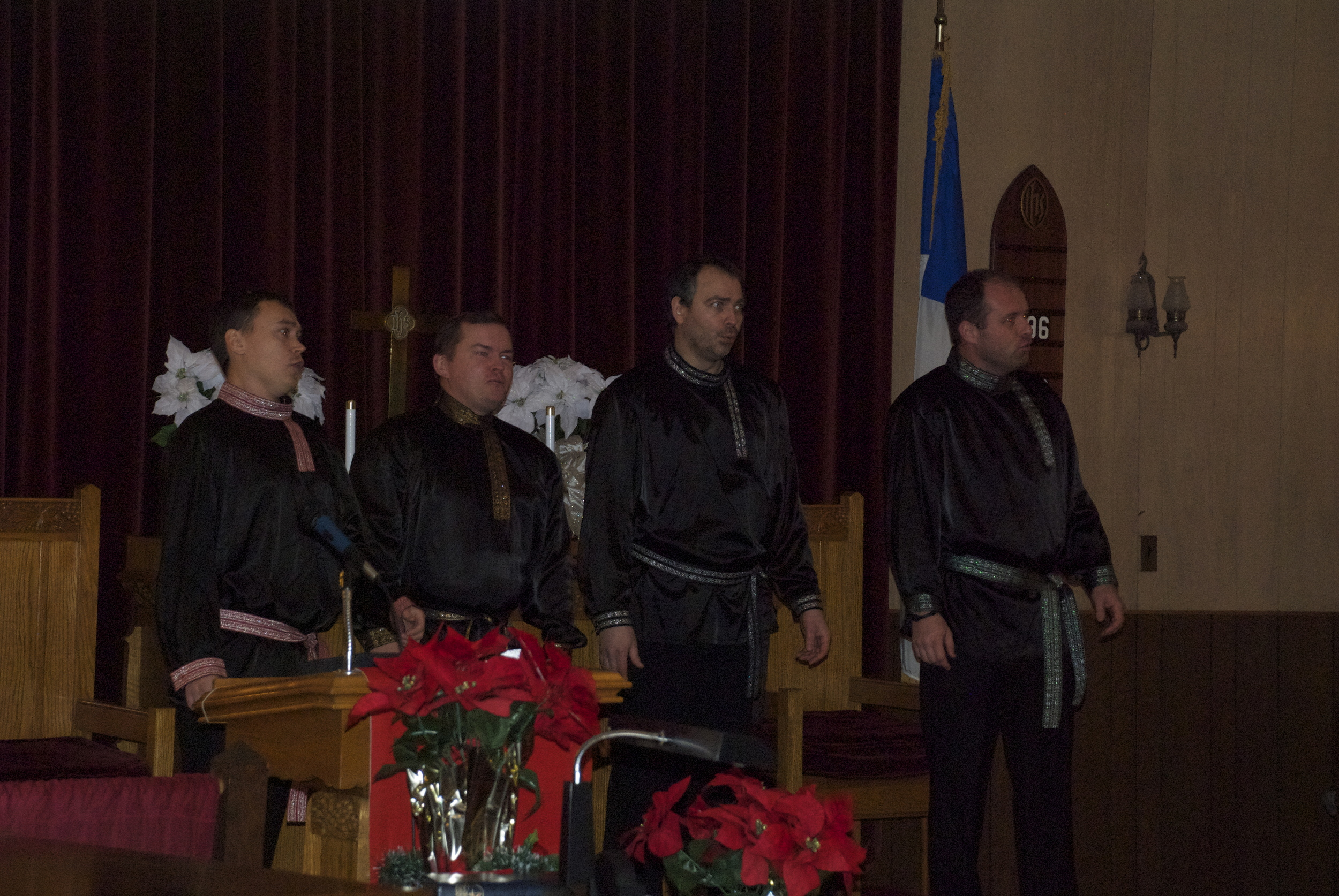 The second half of the concert was completely in Russian with Russian folk songs.