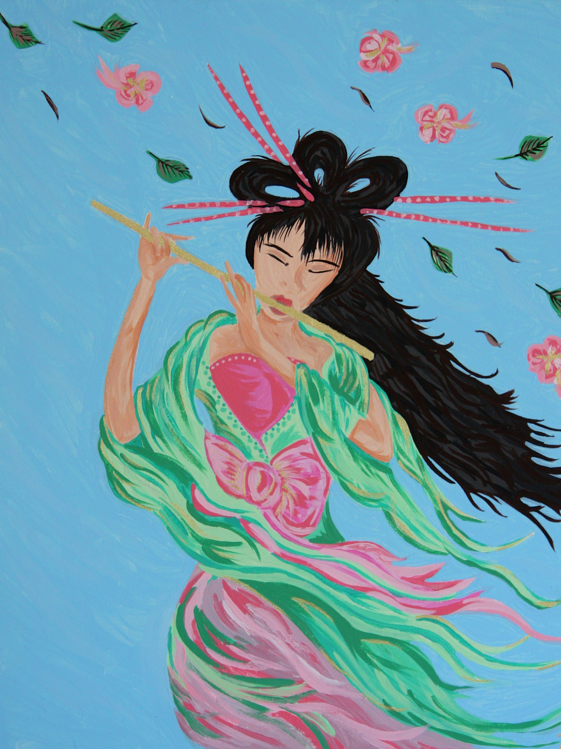 Chinese Girl Painting Size 50x40cm Contact Feike for pricing info