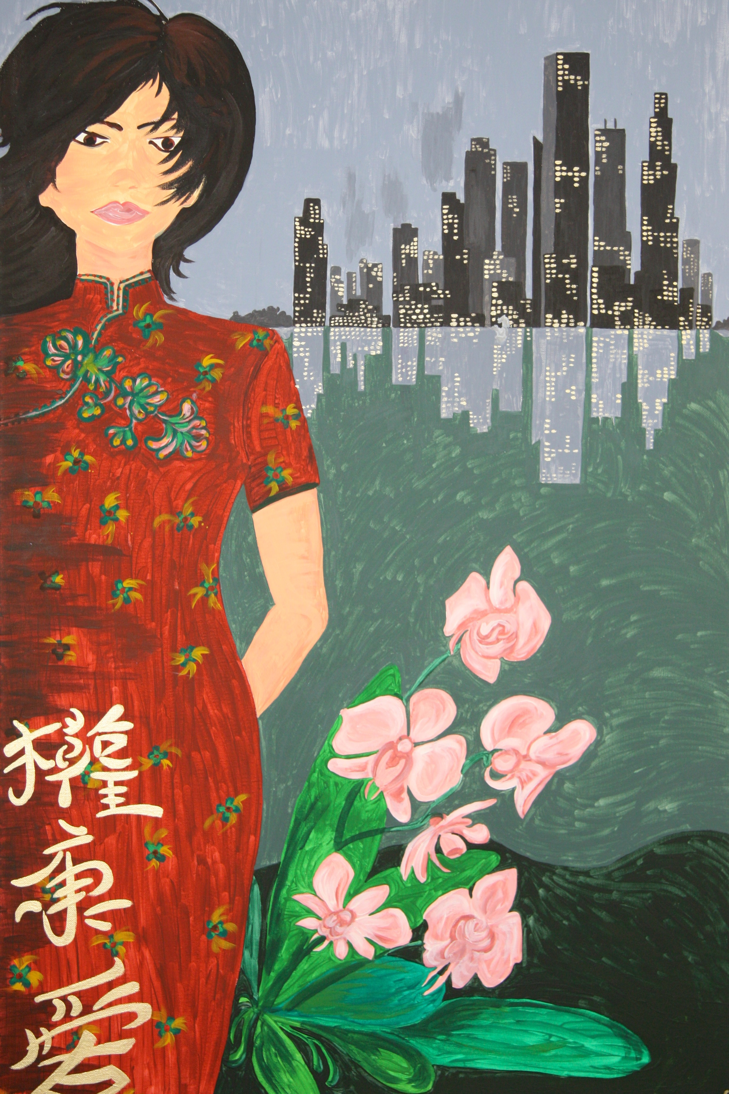 Singapore Girl Painting ize 115x75cm Not avalable