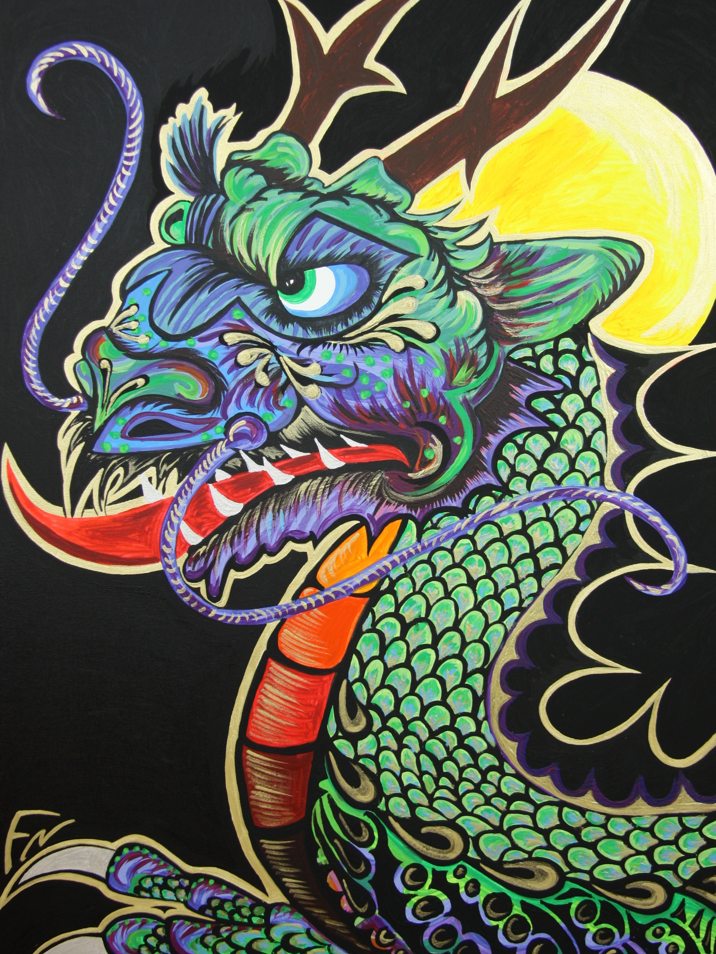 Lion Dragon Size 80x60cm Contact Feike for pricing info