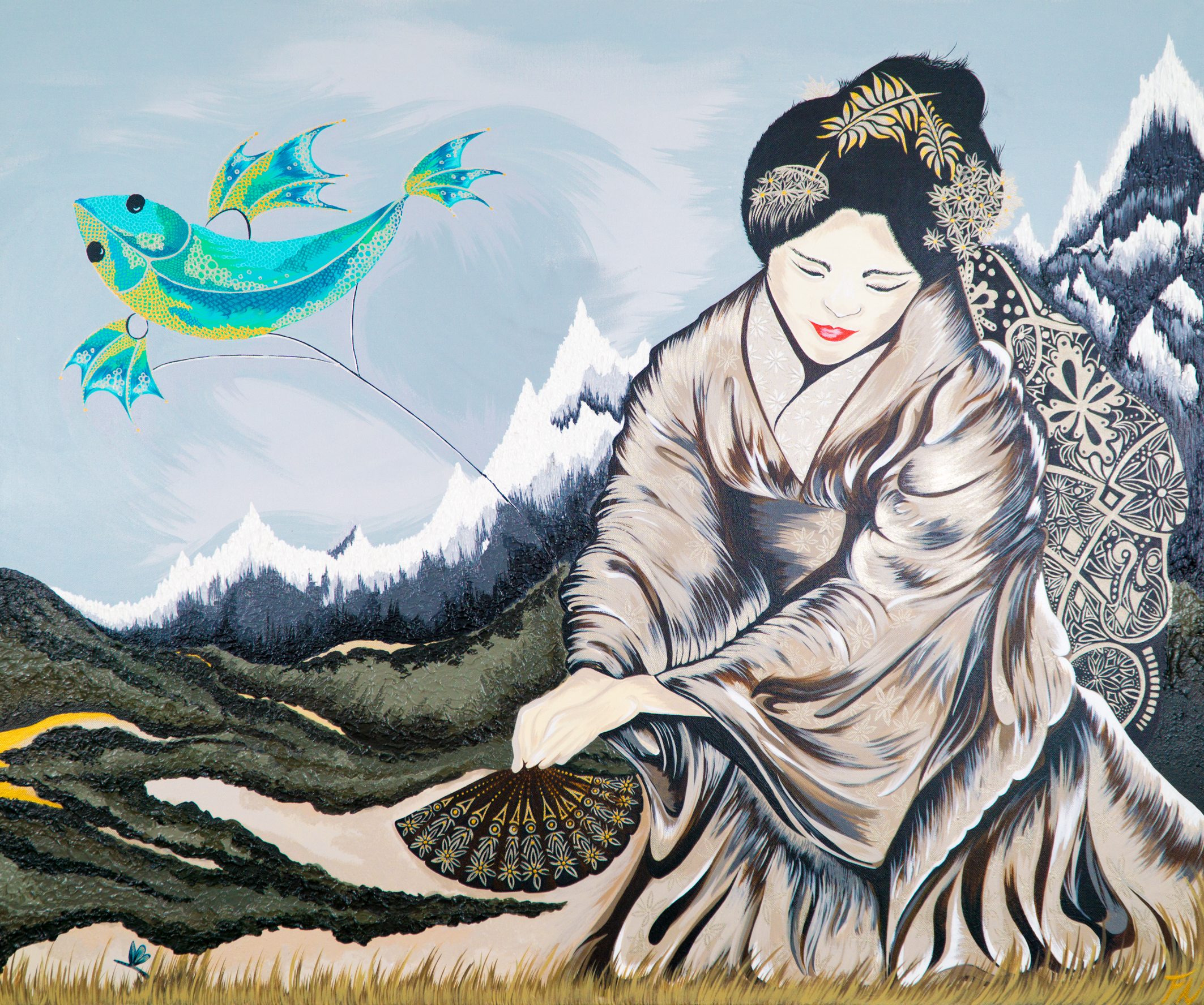 GEISHA WITH FISH