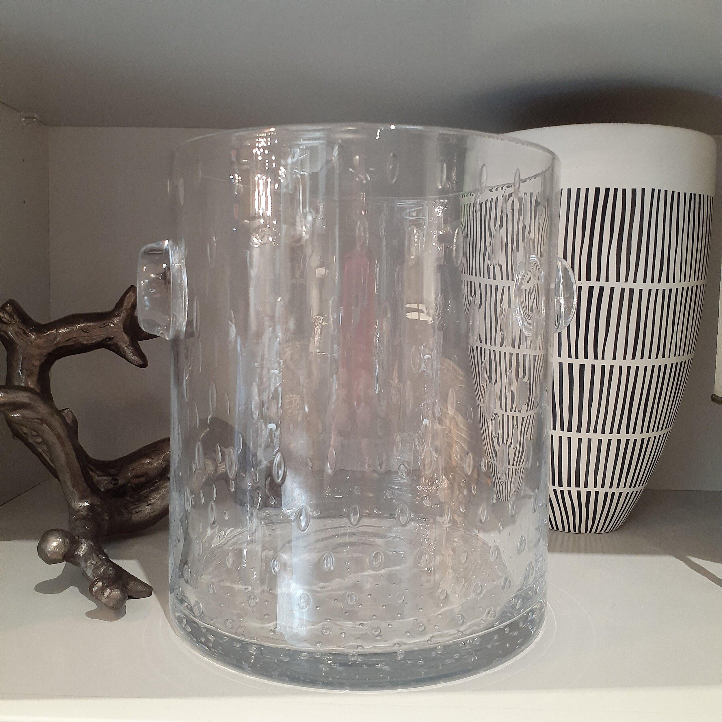 Seeded Glass Ice Bucket $95